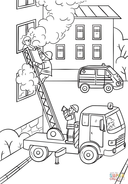 вера картинки раскраски что необходимо пожарнику спуска