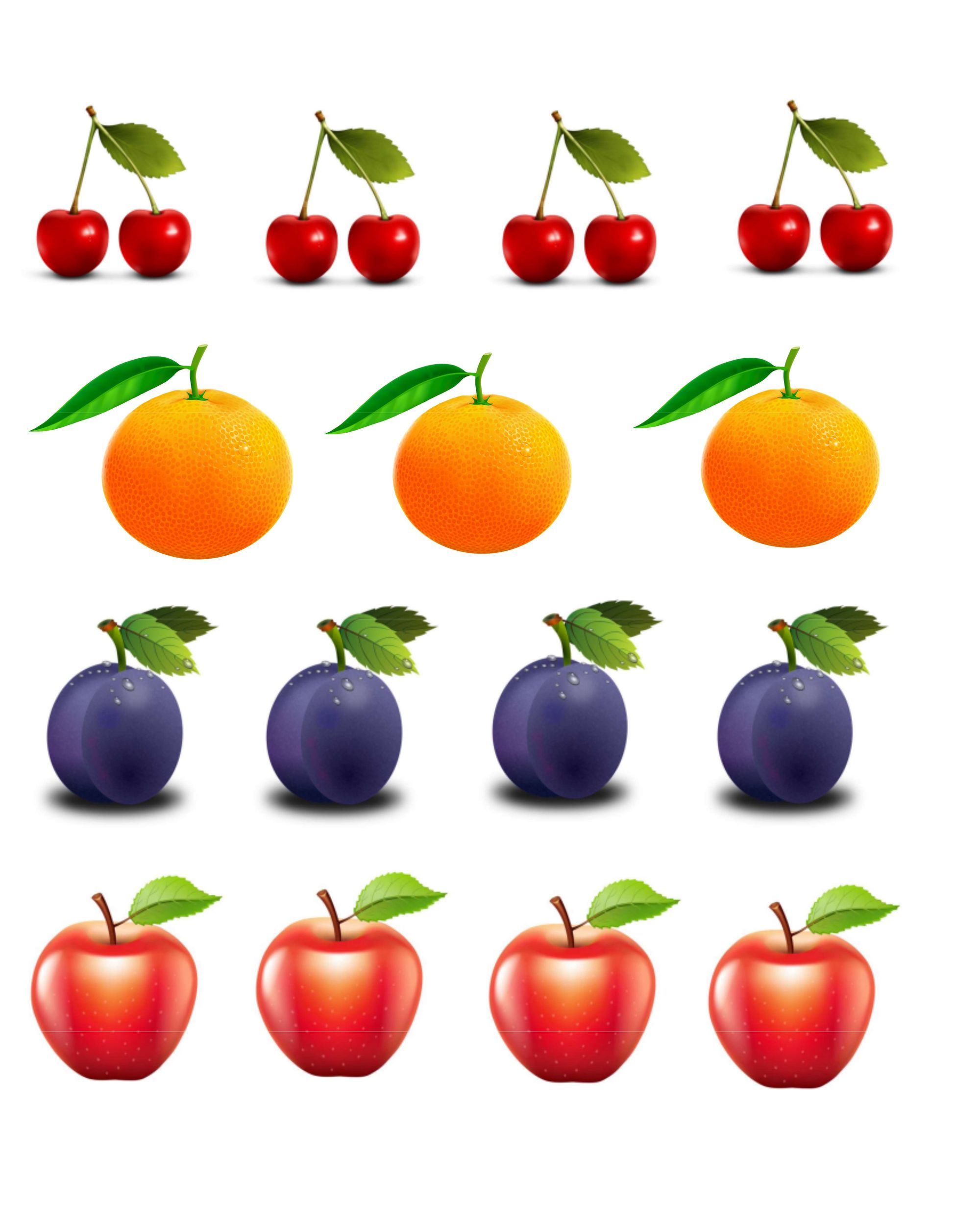 Раздаточный материал яблоки картинки